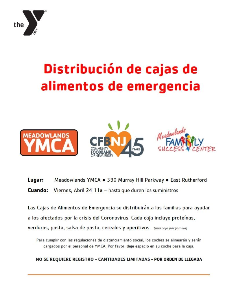 DRIVE THRU EMERGENCY FOOD BOX DISTRIBUTION FLYER - Fri April 24 - SPANISH_001